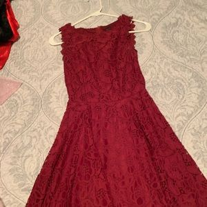 Red lace dress - perfect for middle school hoco